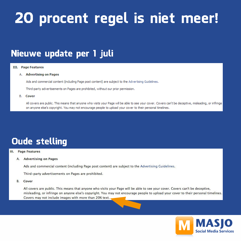 20% regel van facebook
